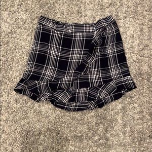 Plaid skort from Express
